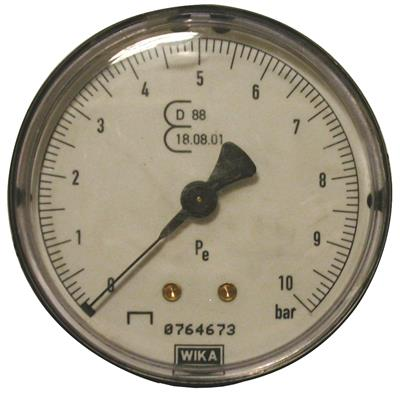 MANOMETER GEIJKT D.80mm
