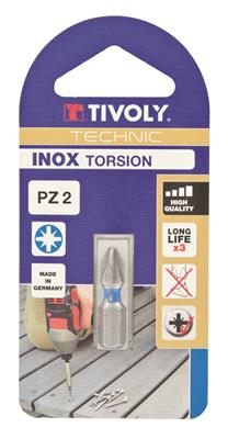 BIT POZIDRIV INOX TORSION