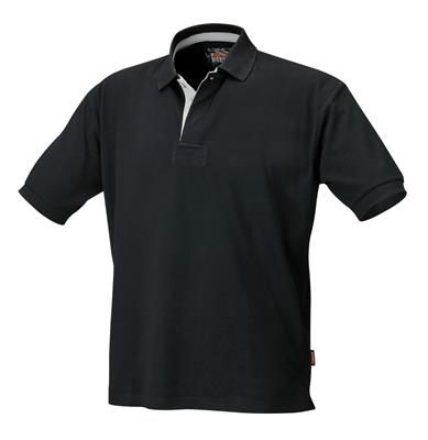 7546N DRIEKNOOPS POLO SHIRT, ZWART